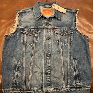 Levi's Trucker Vest Men's New With Tags